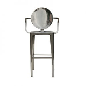 Philippe Polished Louis Ghost Barstool