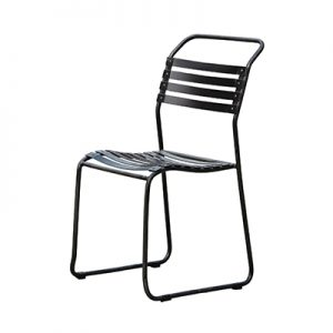 Slat steel outdoor chair