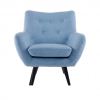 big blue lounge chair