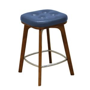 Armless square low stool
