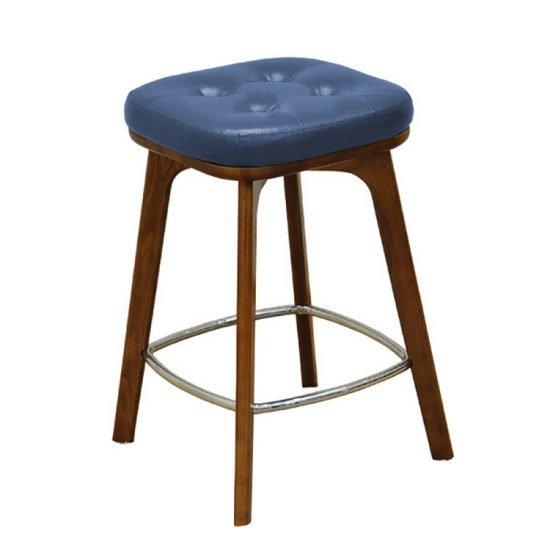 Armless square low stool
