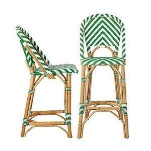 Rattan bar stool