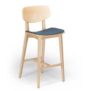 Lara wood bar stool