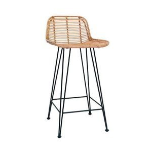 Hairpin Wicker Stool