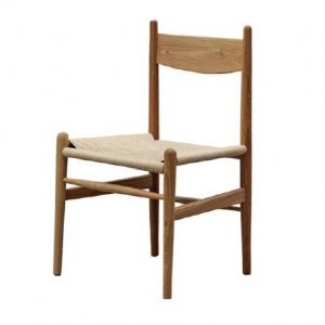 Rustic Rattan Dining Chair