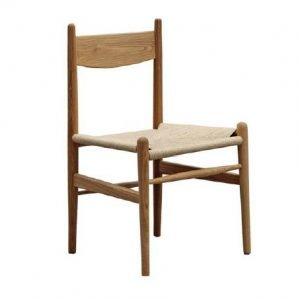 Rustic Rattan Dining Chair