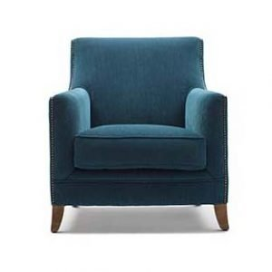 Thick cushioned armchair