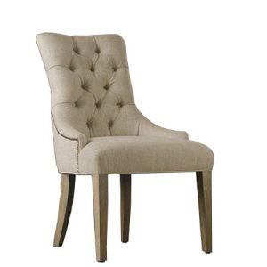 Button Back Low Arm Dining Chair