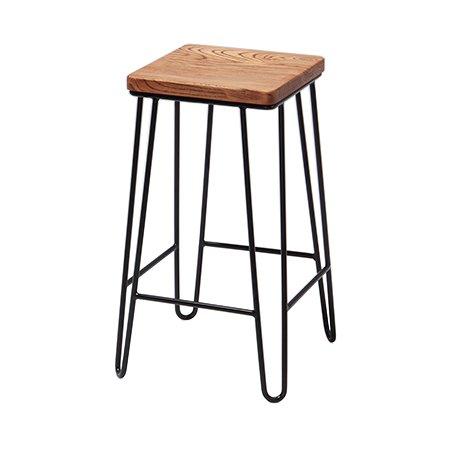 hairpin square stool