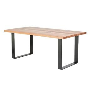 Timber Top Metal Frame