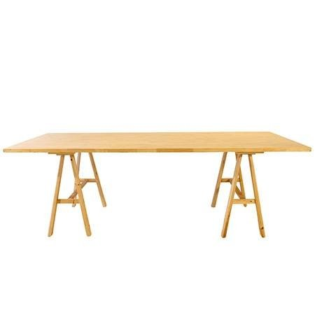 Wooden Trestle Dining Table