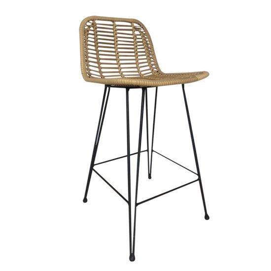 rattan bar stool chair