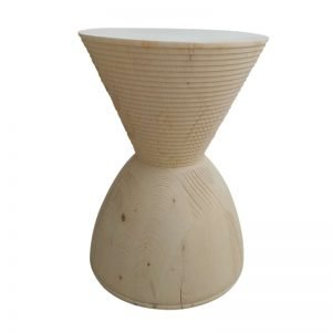 timber hourglass stool