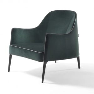 Deep Velvet Lounge Chair