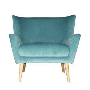 Wide Back Velvet Armchair