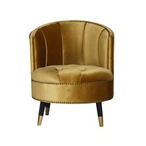 Golden High Back Ottoman
