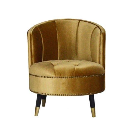 Golden High Back Ottoman