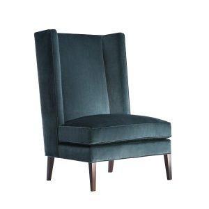 Velvet high back chair