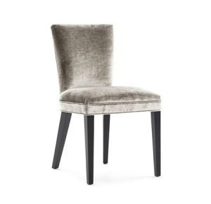 Armless velvet dining chair