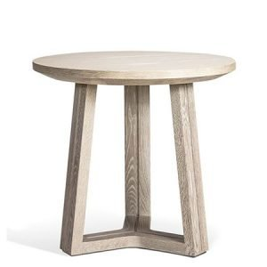 Oak wood side table