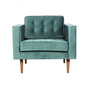 Tufted velvet armchair