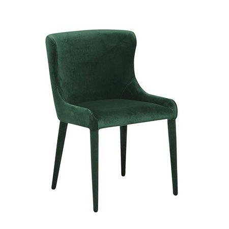 Velvet side chair