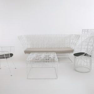 wire metal furniture set