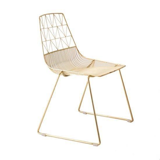 Gold metal Arrow Chair