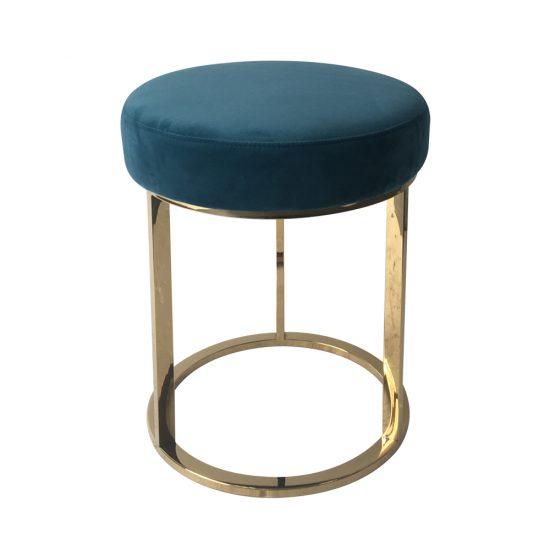 brass frame low stool