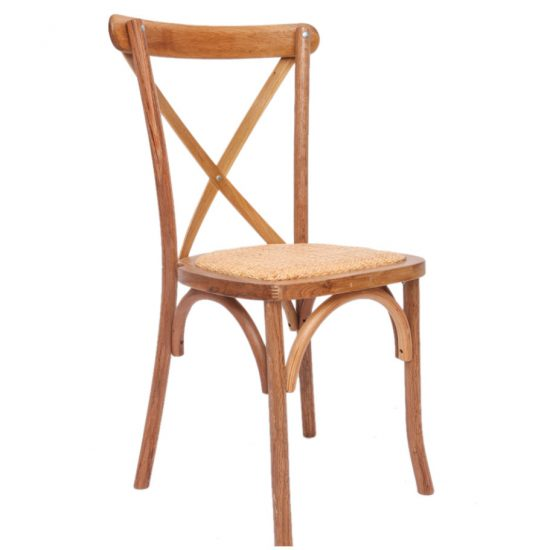 Stackable cross back chair