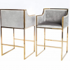 hazel gold frame bar stool
