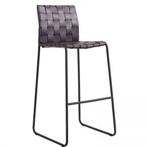 leather Braid Bar Stool