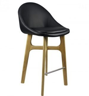 Leather Seat Timber Stool