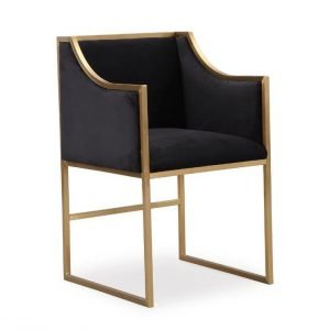 Altar black velvet chair