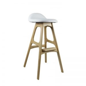 Blue Mountains White Wooden Stool